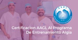 Certificacion AAGL Al Programa De Entrenamiento Algia